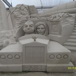 Thunderbirds sand sculpture