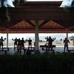 Beachside fitness area