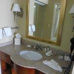 Vanity, separate from bathroom