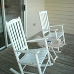 Rocking Chairs on Private Screened Porch