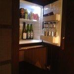 Mini bar in wadrobe