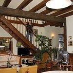 лестница со второго этажа в гостиную