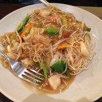 Fried noodles... bland!