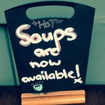 Home-made soups now available