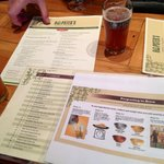Selection of menus - beer and food