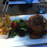 burger rosini, foie gras poélé sauce porto