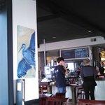 Blue Heron Artwork and Good Food