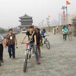 Cycling with tour guide Sarah;Xian City Wall