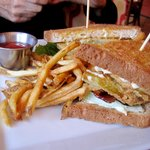 BLT with fried green tomato