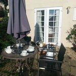Private garden where we had a divine breakfast