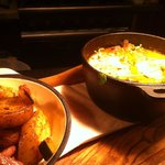 Local rabbit stew, thyme dumplings, sautéed potatoes with bacon