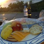 Snack at sunset