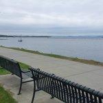 Aire de repos au bord du Lac Champlain