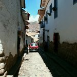 narrow, cobble stone street (San Blas)
