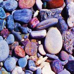 So many colorful stones on the beach!