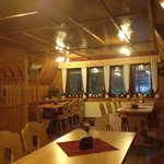 Im Restaurant des Campingplatzes. Di Ruhetag.