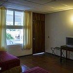 Bedroom showing door to balcony