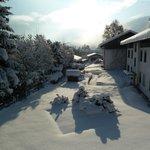 Sunshine at day-break in December