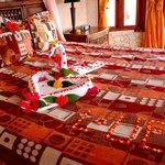 Romantic bed for the honeymooners