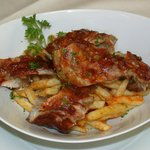 ROASTED PORK RIBS WITH FRIES