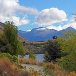 Lakeside walk - mountain view