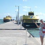 Aguardando para pegar o ferry