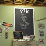 Pie Peddlers' menu