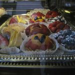 Tempting Pastries in the window
