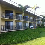 Bldg 4, view of our room from beach side.