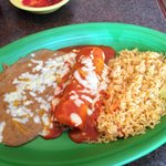 Lunch Special Beef Enchilada - delicious!
