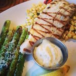 Grilled Fish, Corn Saute and Grilled Asparagus