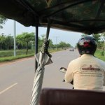 On the way to Angkor Wat for sunset