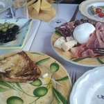 antipasto and burrata