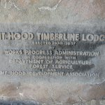 Lodge sign carved into stone