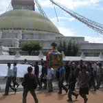 Funeral procession around the stupa