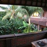 Balcony overlooking the garden
