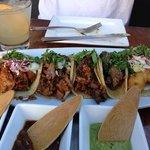 mole, alambre, filet, carnitas and fish tacos. off da hook!