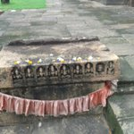 Navagraha Shila kept at the side of the temple