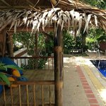 Ananas Samui Hostel, chill-out area by the pool.