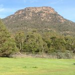 View from our cabin of The Grampians