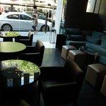 Lounge next door to lobby