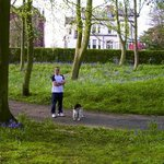 Walking the dog at Hesketh Park