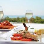 Awesome fresh salmon & prawns pardelle