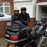Me and Steve about to start our bike trip little tour of Worthing