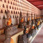 the whole temple is decorated with Buddha statues