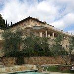 Villa La Borghetta vista dalla zona piscina