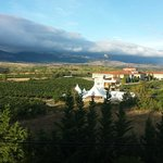 view of granite ridge from Hotel Villa de Laguardia room