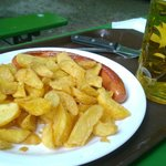 Beer garden - sausage and chips