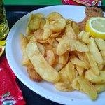 Beer Garden food - schnitzel