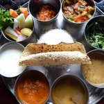 close up of the food Nepali set